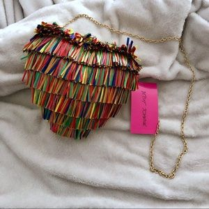 Betsey Johnson Hearts Don't Lie Purse